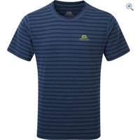 Mountain Equipment Groundup Plain Tee - Size: L - Colour: MARINE STRIPE
