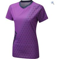 Zucci Womens MTB Short Sleeve Jersey - Size: 26 - Colour: BRIGHT VIOLET