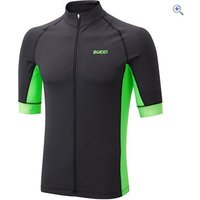 Zucci Mens Elite Full Zip Short Sleeve Jersey - Size: S - Colour: IRIS-FLUO GREEN