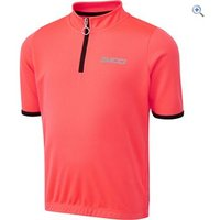 Zucci Childrens Half Zip Short Sleeve Jersey - Size: 34 - Colour: FLURO PINK