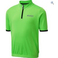 Zucci Childrens Half Zip Short Sleeve Jersey - Size: 9-10 - Colour: FLURO GREEN