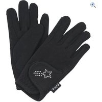 Toggi Gleam Chirldrens Riding Gloves - Size: M - Colour: Black