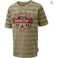 Hi Gear Black Peak Kids T-Shirt - Size: 11-12 - Colour: Green