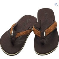 Sinner Braided Flip Flops - Size: 41 - Colour: Brown
