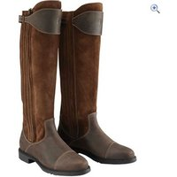 Caldene Womens Buckland Long Wax & Leather Counntry Boots - Size: 7 - Colour: Tan