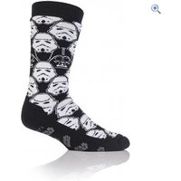 Heat Holders Mens Star Wars Storm Trooper Double Layer Sock - Colour: Black - White