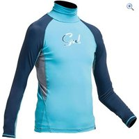 Gul Junior Girls Long Sleeve Rashguard - Size: S - Colour: TURQUOISE-NAVY