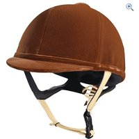 Caldene Tuta PAS015 Riding Hat - Size: 60 - Colour: Brown