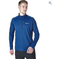 Berghaus Mens Tech Tee LS Zip Neck - Size: XXL - Colour: POSEIDON