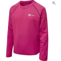 Hi Gear Regulate Kids LS Tech Tee - Size: 13 - Colour: VIRTUAL PINK