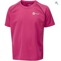 Hi Gear Regulate Kids Tech Tee - Size: 3-4 - Colour: VIRTUAL PINK