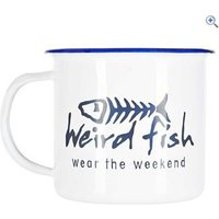 Weird Fish Enamel Mug - Colour: WHITE TIN