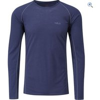 Rab Mens Merino+ 120 LS Tee - Size: L - Colour: Twilight Blue