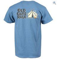 Old Guys Rule Happy Camper T-Shirt - Size: L - Colour: Blue