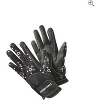 Harry Hall Girls Roxby Reflective Gloves - Size: L - Colour: Black
