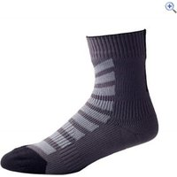 SealSkinz MTB Ankle Socks With HydroStop - Size: L - Colour: BLACK-ANTHRACIT