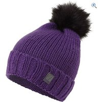 The Edge Womens Whistler Fur Pom Pom Hat - Colour: Purple