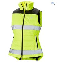 Harry Hall Hi Viz Womens Down Like Gilet - Size: 14 - Colour: Yellow