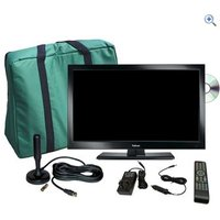 Falcon TV Plus Pack - 19 LED TV, 12V & Mains with magnetic mount Freeview antenna