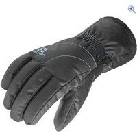 Salomon Womens Force Dry Gloves - Size: S - Colour: BLACK BLUE