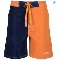 Regatta Kids Skooba II Shorts - Size: 28 - Colour: CARROT-NAVY