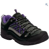 Regatta Womens Edgepoint II Walking Shoes - Size: 7 - Colour: BLACK-ALP PRPL