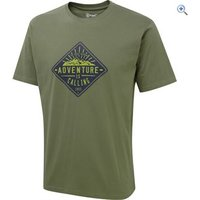 Hi Gear Mens Adventure Calling Tee - Size: XXL - Colour: Khaki