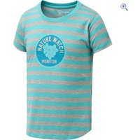 Hi Gear Kids Nature Watch Tee - Size: 5-6 - Colour: PACIFIC-SURF