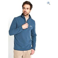 Weird Fish Mens Sponde 1/4 Zip Neck Grid Fleece Top - Size: XL - Colour: Ensign Blue