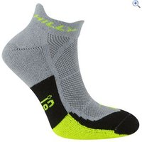 Hilly Cushion Socklets - Size: L - Colour: GREY-YEL-BLK