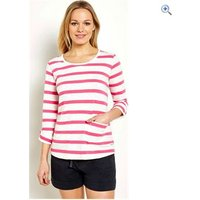 Weird Fish Womens Bollywood Stripe Long Sleeve T-Shirt - Size: 12 - Colour: Hot Pink