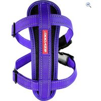EzyDog Chest Plate Dog Harness (M) - Colour: Purple