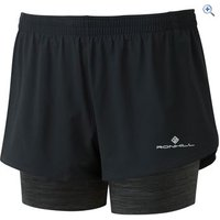 Ronhill Womens Stride Twin Short - Size: 16 - Colour: Black