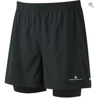 Ronhill Mens Stride Twin 5 Short - Size: M - Colour: Black