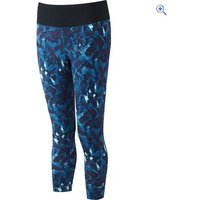 Ronhill Womens Momentum Crop Tight - Size: 10 - Colour: SURF BLUE