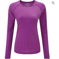 Ronhill Womens Momentum L/S Tee - Size: 8 - Colour: Thistle
