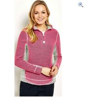 Weird Fish Emmie 1/4 Zip Active Macaroni Womens Sweatshirt - Size: 18 - Colour: Hot Pink