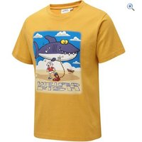 Weird Fish Kids Shark Inflatable Tee - Size: 7-8 - Colour: OLD GOLD