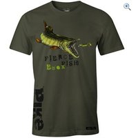 Fladen Hungry Pike T-Shirt - Size: S - Colour: Army Green