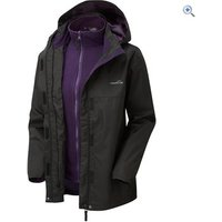 Freedom Trail Womens Versatile 3-in-1 Jacket - Size: 20 - Colour: BLK-BLKBERRY