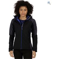Regatta Womens Desoto III Softshell Jacket - Size: 12 - Colour: BLACK SEAL GEY