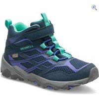 Merrell Kids Moab Mid Waterproof Boot - Size: 3.5 - Colour: Navy