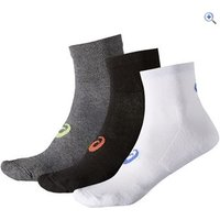 Asics Quarter Socks (3 Pair Pack) - Size: L - Colour: Assorted