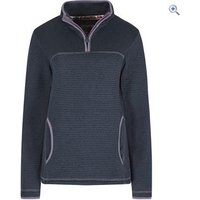 Weird Fish Womens Jessie Zip Soft Knit Fleece - Size: 16 - Colour: Dark Navy Blue