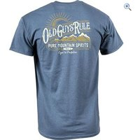 Old Guys Rule Pure Mountain Mens T-Shirt - Size: XL - Colour: INDIGO BLUE