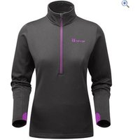 The Edge Womens Jasna Half-Zip Midlayer Fleece - Size: 12 - Colour: LIQUORICE