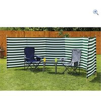 Quest 7-Pole Family Windbreak (Green Stripe) - Colour: Green