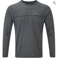 Ronhill Mens Everyday L/S Tee - Size: L - Colour: Grey Marl