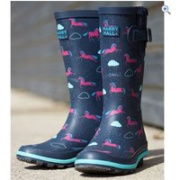 Harry Hall Hale Junior Wellington Boots - Size: 13 - Colour: NAVY HORSE