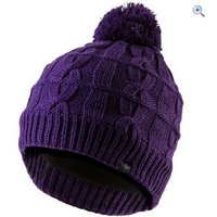 SealSkinz Waterproof Cable Knit Bobble - Size: S-M - Colour: Purple